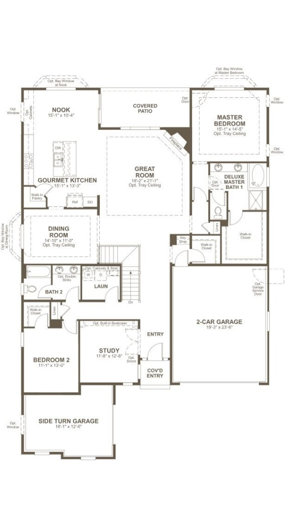Delaney, a Beautiful Colorado New Home main level floorplan by Richmond American Homes