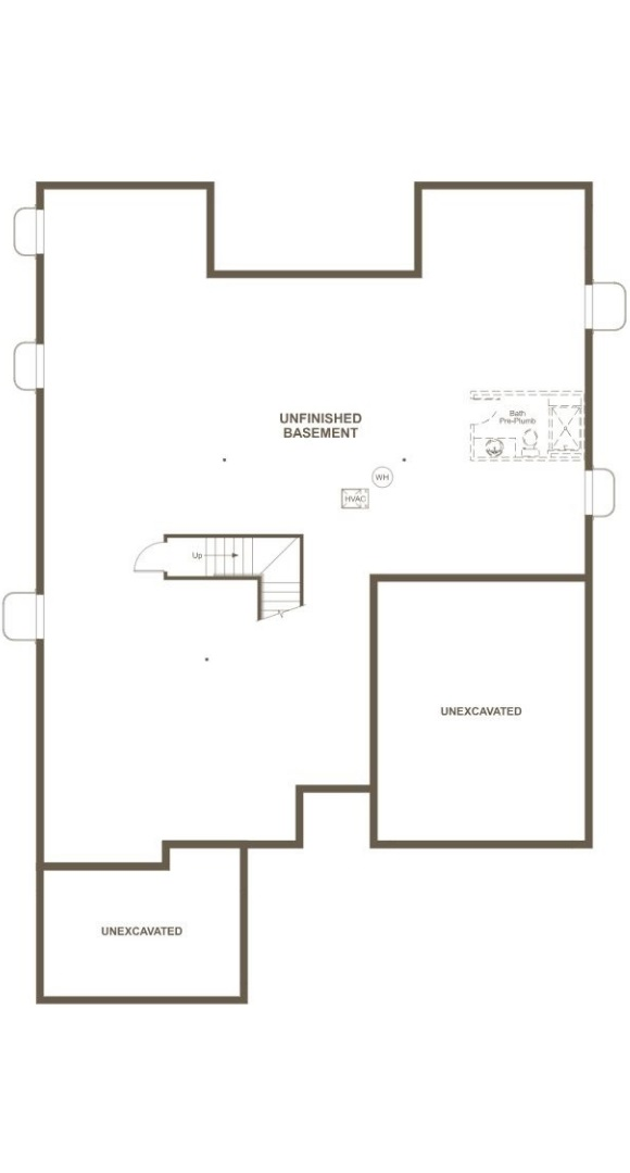 Delaney, a Beautiful Colorado New Home basement plan by Richmond American Homes