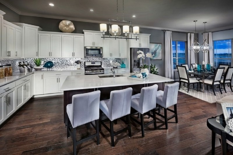 Toll Brothers model home kitchen at Inspiration community Parker CO