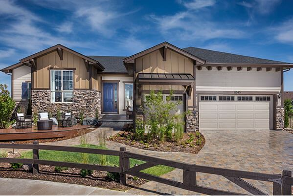 New homebuilders at Inspiration Hilltop 55 Plus near Parker Colorado