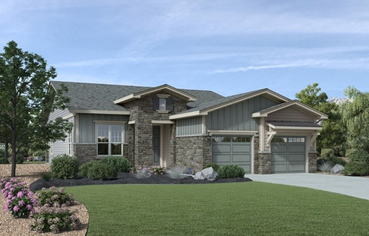 New home at 8522 S. Rome Way by Toll Brothers 55+ in Inspiration Colorado