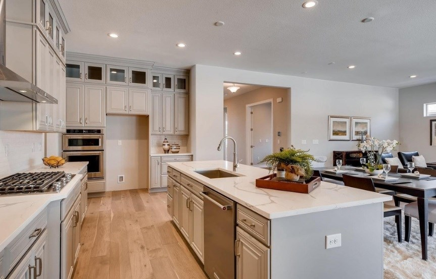 New home kitchen at 8620 S. Sicily Ct by Toll Brothers | Inspiration CO