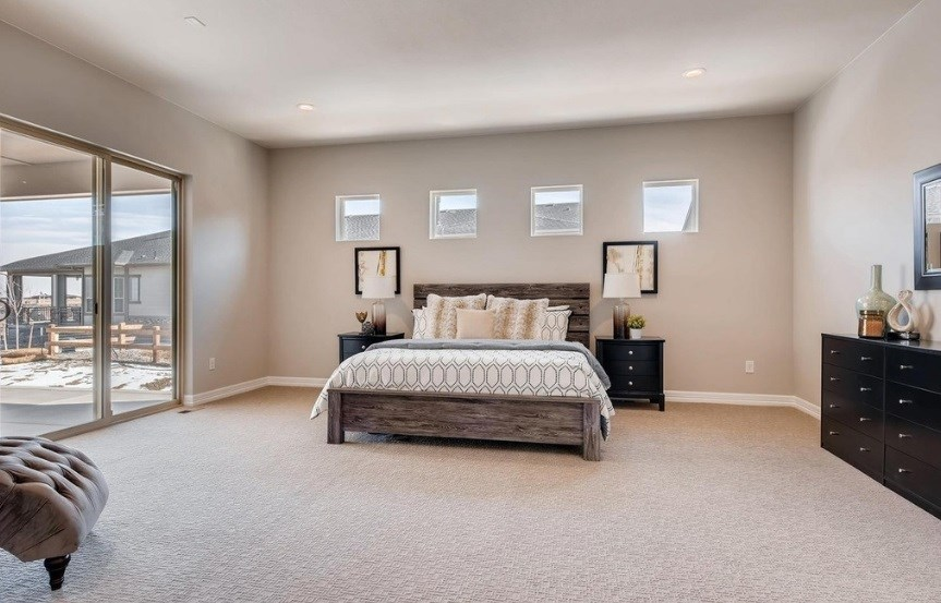 New home master bed at 8620 S. Sicily Ct by Toll Brothers | Inspiration CO