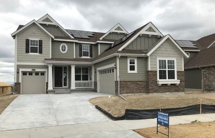 New home at 8825 S. Yakima Ct by Lennar | Inspiration Colorado