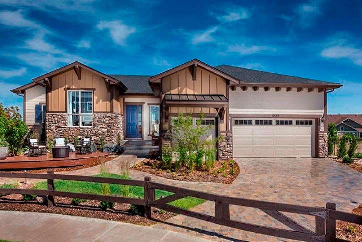 Antero model home by Toll Brothers in Inspiration community Parker CO