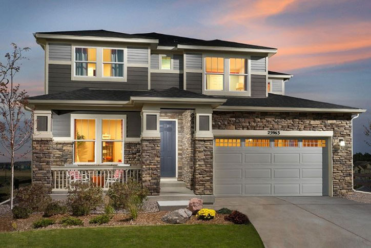 Apex model home by Meritage Homes in Inspiration community Parker CO