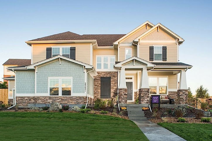 Botticelli model home by David Weekley Homes in Inspiration community Parker CO