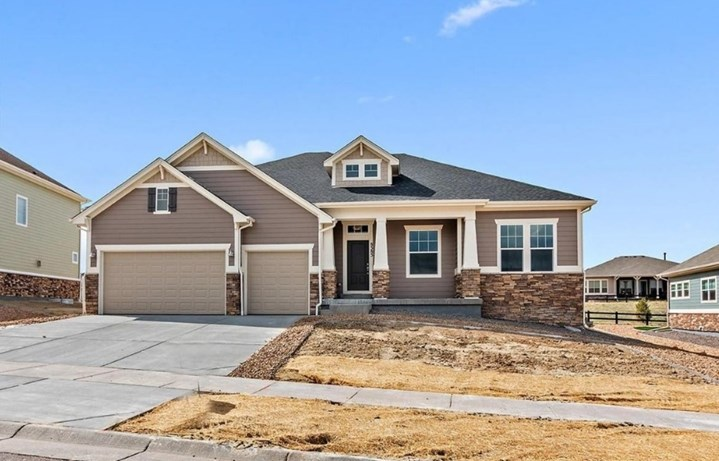 New home at 8585 S. Zante St by Lennar | Anthem Highlands