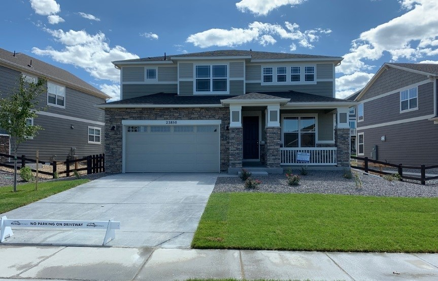 New home at 23850 E. Minnow Dr by Meritage in Inspiration Colorado