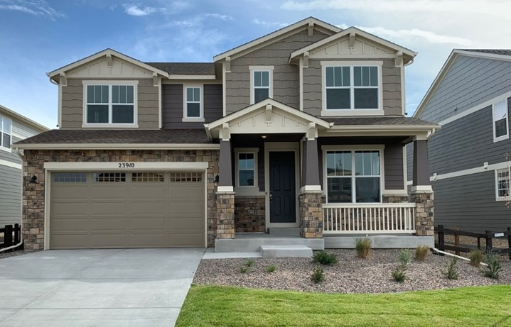 New home at 23910 E. Minnow Dr by Meritage in Inspiration Colorado