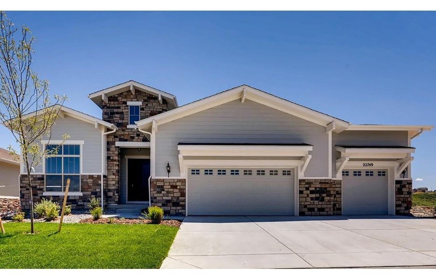 New home at 22749 E. Eads Cir by Toll Brothers | Inspiration Colorado