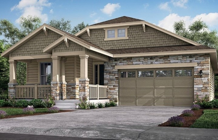 New home at 8834 S. Sicily Ct by Lennar 55+