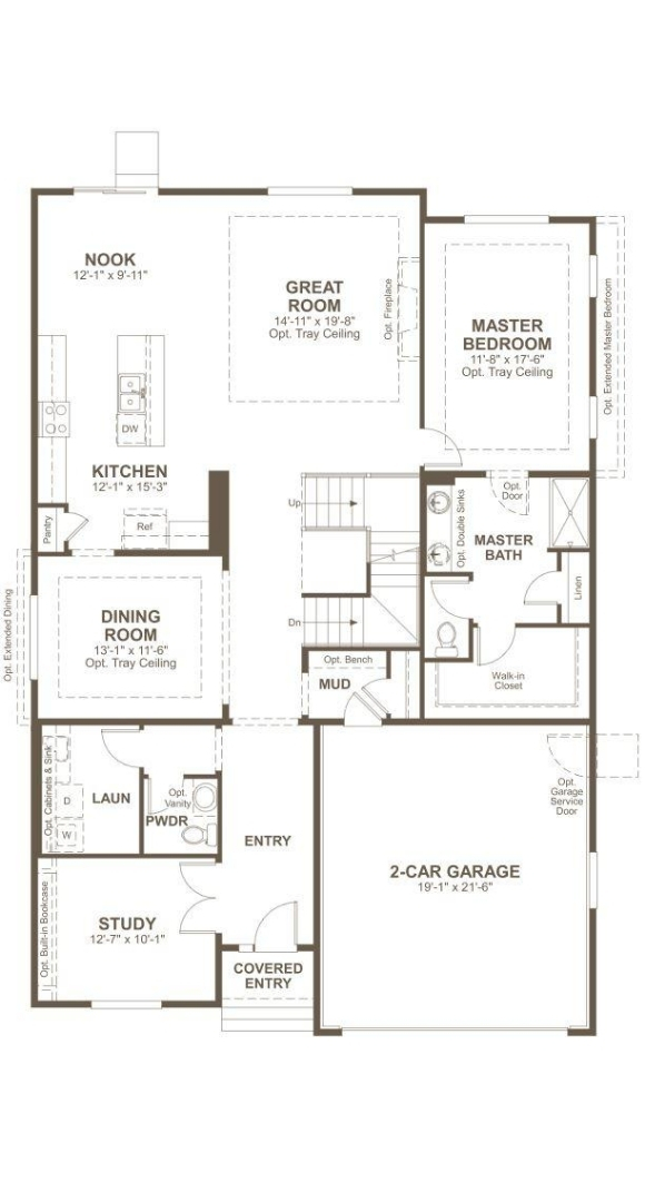 Avril main level plan by Richmond American in Inspiration Colorado