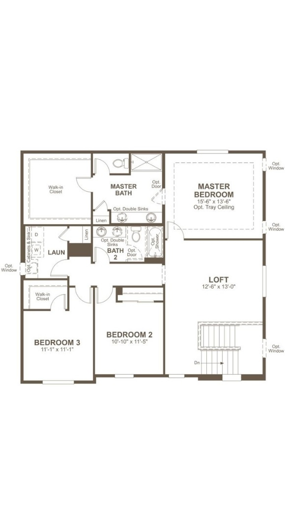 Bedford second level plan by Richmond American in Inspiration Colorado