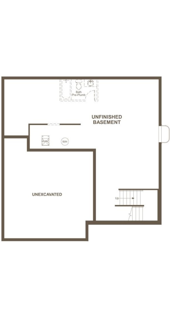 Bedford basement level plan by Richmond American in Inspiration Colorado