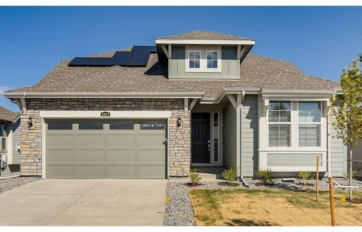 New home at 8863 S. Tibet Ct by Lennar 55+