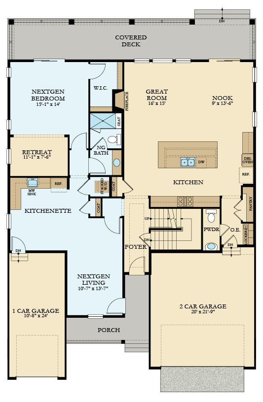 SuperHome main floor by Lennar, a Beautiful Colorado Model New Home at Inspiration